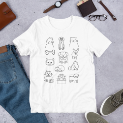 Cats and Dogs Short-Sleeve Unisex T-Shirt