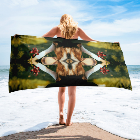 Flower and Girl Towel