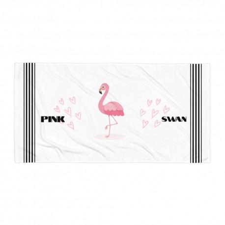 Pink Swan Towel