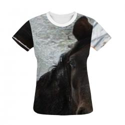 Women's T-shirt - Zeke the Morgan Horse