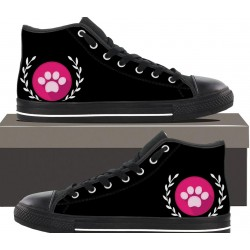 Women's Black Hightop - Paw print