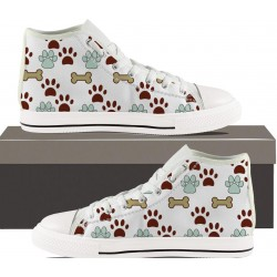 Pawprints and Bones Womens Hightop