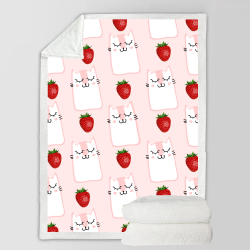 Fleece Blanket - Strawberries