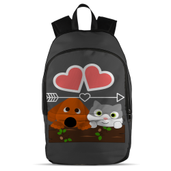 Cat Dog Love Backpack