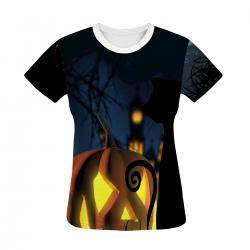 Halloween Pumpkin Women's All Over Print T-shirt
