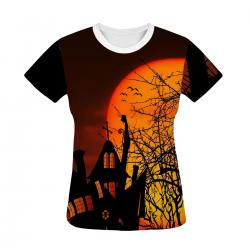 Haunted House Women's All Over Print T-shirt