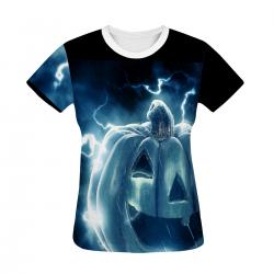 Electric Pumpkin Women's All Over Print T-shirt