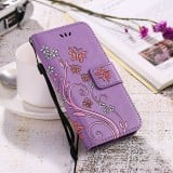 Stunning Butterfly Leather Flip Book Wallet iPhone Case