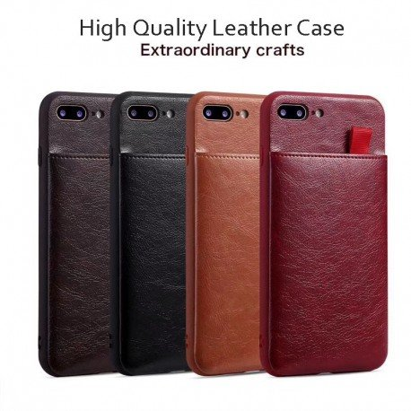 Stunning Leather iPhone Card Wallet Case