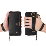 Stunning Multifunction Luxury Leather Zipper Wallet Case for iPhone & Samsung