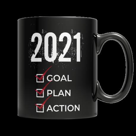 2021 Goal Plan Action - Black Mug
