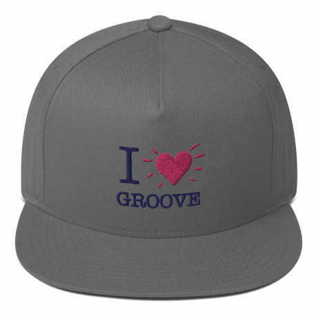 I Love Groove Flat Bill Cap