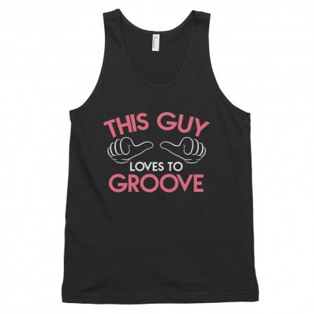 This Guy Loves to Groove Classic Tank Top Dark