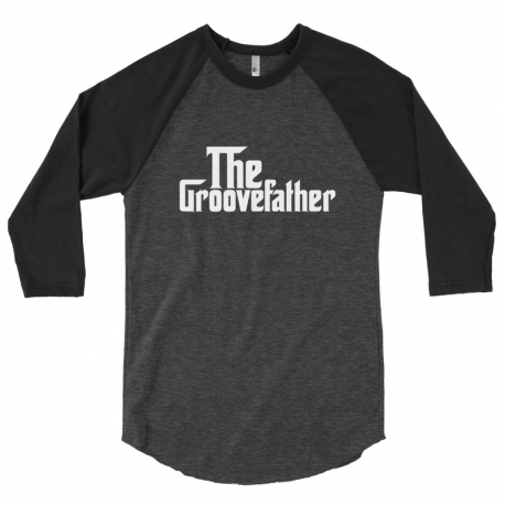 The GrooveFather Men's 3/4 Sleeve Raglan Shirt