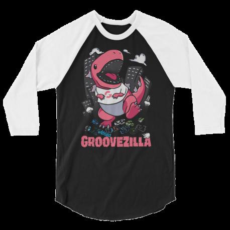 GrooveZilla Unisex 3/4 Sleeve Raglan Shirt