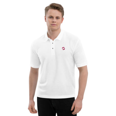 Groove G Men's White Embroidered Polo