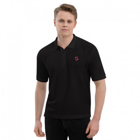 Groove G Men's Black Embroidered Polo