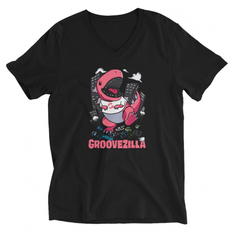 GrooveZilla Unisex Short Sleeve V-Neck T-Shirt