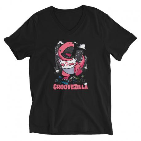 GrooveZilla Unisex Short Sleeve V-Neck T-Shirt