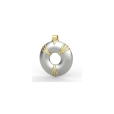 Aulterra Energy Pendant Silver & Gold