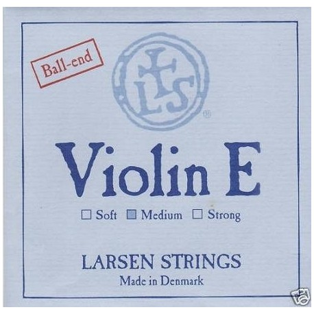 Larsen 44 Violin String Set  Medium  BallEnd E