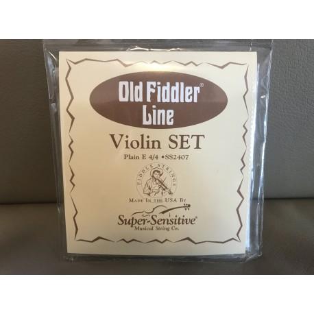 USA Super Sensitive Old Fiddler Line Violin Plain E 44 Strings Set, SS2407