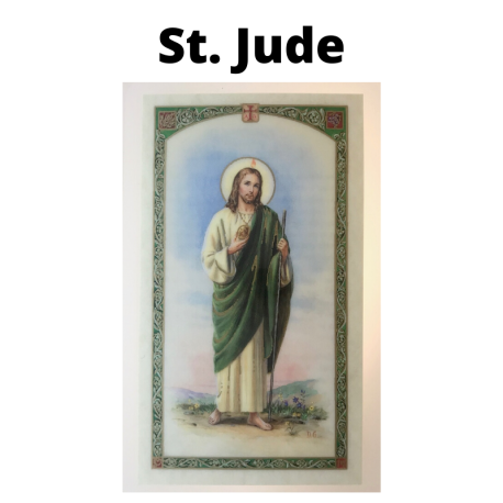St. Jude Prayer Card for Catholics and Christians. Patron Saint of Impossible Cases