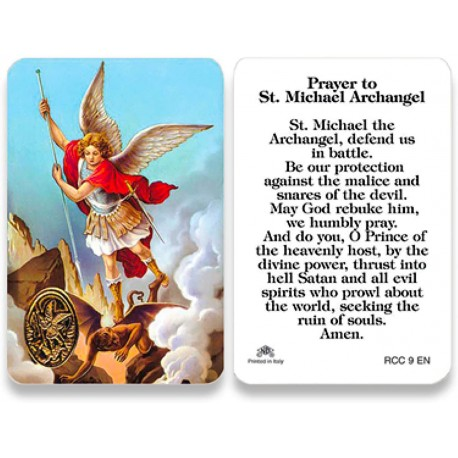 St. Michael the Archangel Prayer Card for Military