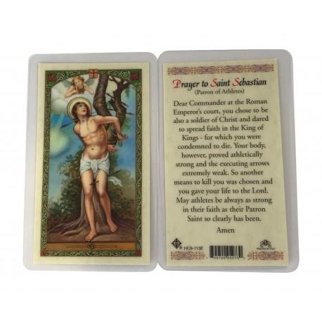 St. Sebastian Prayer Card Catholic Holy Card