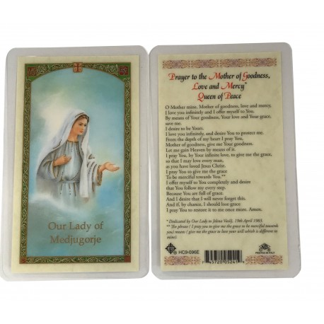 Our Lady of Medjugorje Prayer Card