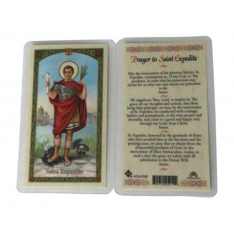 St. Expedite Prayer Card Catholic Holy Card