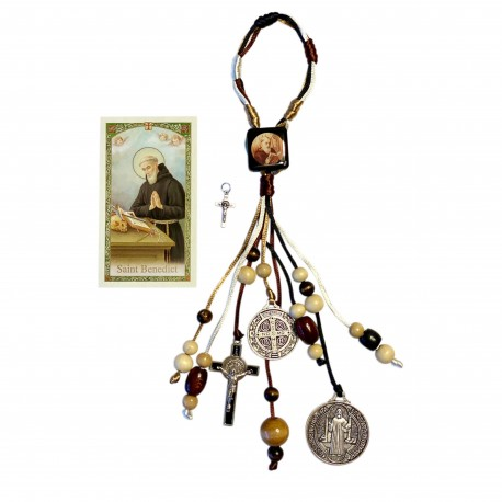 St Benedict Door Hanger for New Home Blessing includes Medals Crucifix and Card, Saint Benedict Medal Crucifix and Prayer Card in Home Blessing Catholic Kit