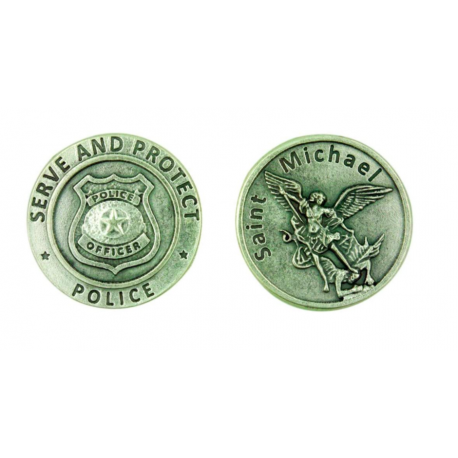 St. Michael Pocket Token Coin for Police Officers