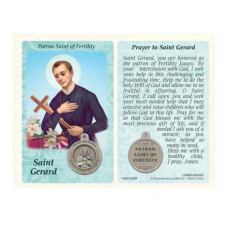 St. Gerard Prayer Card and Medal