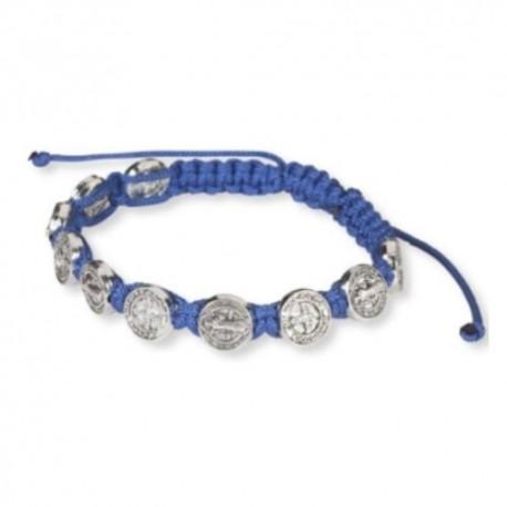St. Benedict Blue Cord Bracelet