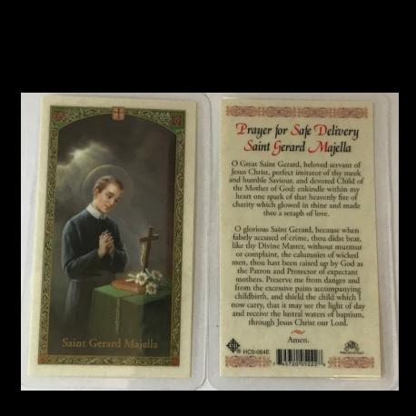 St. Gerard Laminated Prayer Card