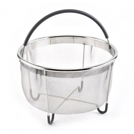 Stainless Steel Wire Mesh Steamer Basket with Handle