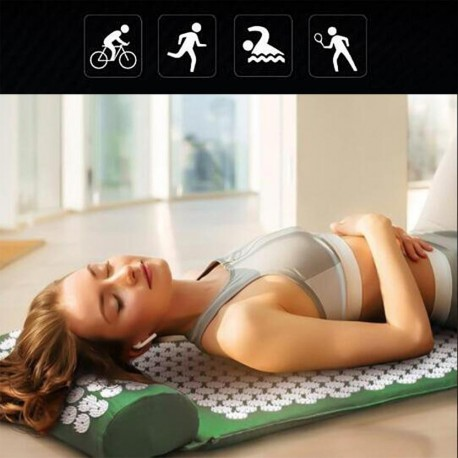 In Style Pieces™   Acupressure Massaging, HighTraction Yoga Mat & Pillow