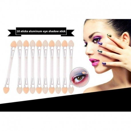 In Style Pieces™   10 pcs DoubleEnd Eye Shadow Applicator. 5 Colors. Long Lasting