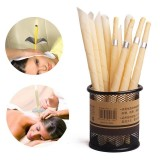 Indian Candling Fragrance Ear Cleaner Hopi Ear Candle 10 Pieces Wax Remover Horn Earplug Tray Round Aromatherapy Ear Candle