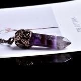1PC Natural Crystal Mineral Ornaments Vintage Crystal Pointing Magic Repair Magic Yoga Divination Amulet Energy Pendant Gift