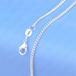 925 Sterling Silver Fine Curb Chain Necklace