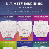 Ultimate Inspiring Life Planner [175 Pages]