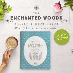 Enchanted Woods Bullet + Note Pages [35 Pages]