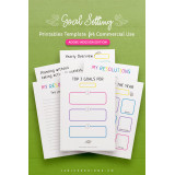 Goal Setting Printables InDesign Template for Commercial Use