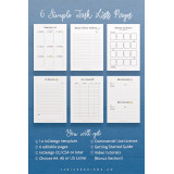 Printable Task Lists: InDesign Template for Commercial Use