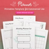 Printable Planner InDesign Template for Commercial Use