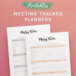 Meeting Tracker Planner Printables