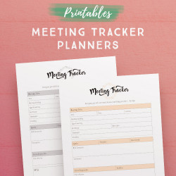 Meeting Tracker Planner Printables