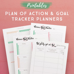 Plan of Action + Goal Tracker Planners